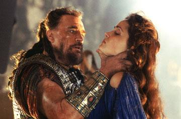Brian Cox and Rose Byrne in Warner Brothers' Troy