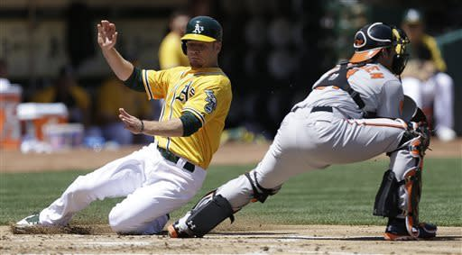 Back-to-back homers power Orioles past A's