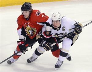 Crosby, Malkin lead Pens past Sens in SO