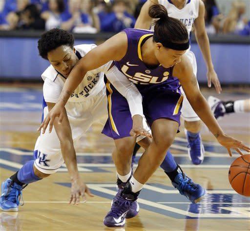 No. 5 Kentucky women top LSU 73-60