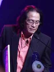 Singer Victor Wood was recognized as one of the OPM Icon during the 3rd PMPC Star Awards for Music held at Henry Irwin S.J Theater, Ateneo De Manila University in Quezon City, Philippines. (Jerome Ascano,NPPA Images)