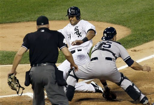 Youkilis' slam leads White Sox over Yankees 7-3