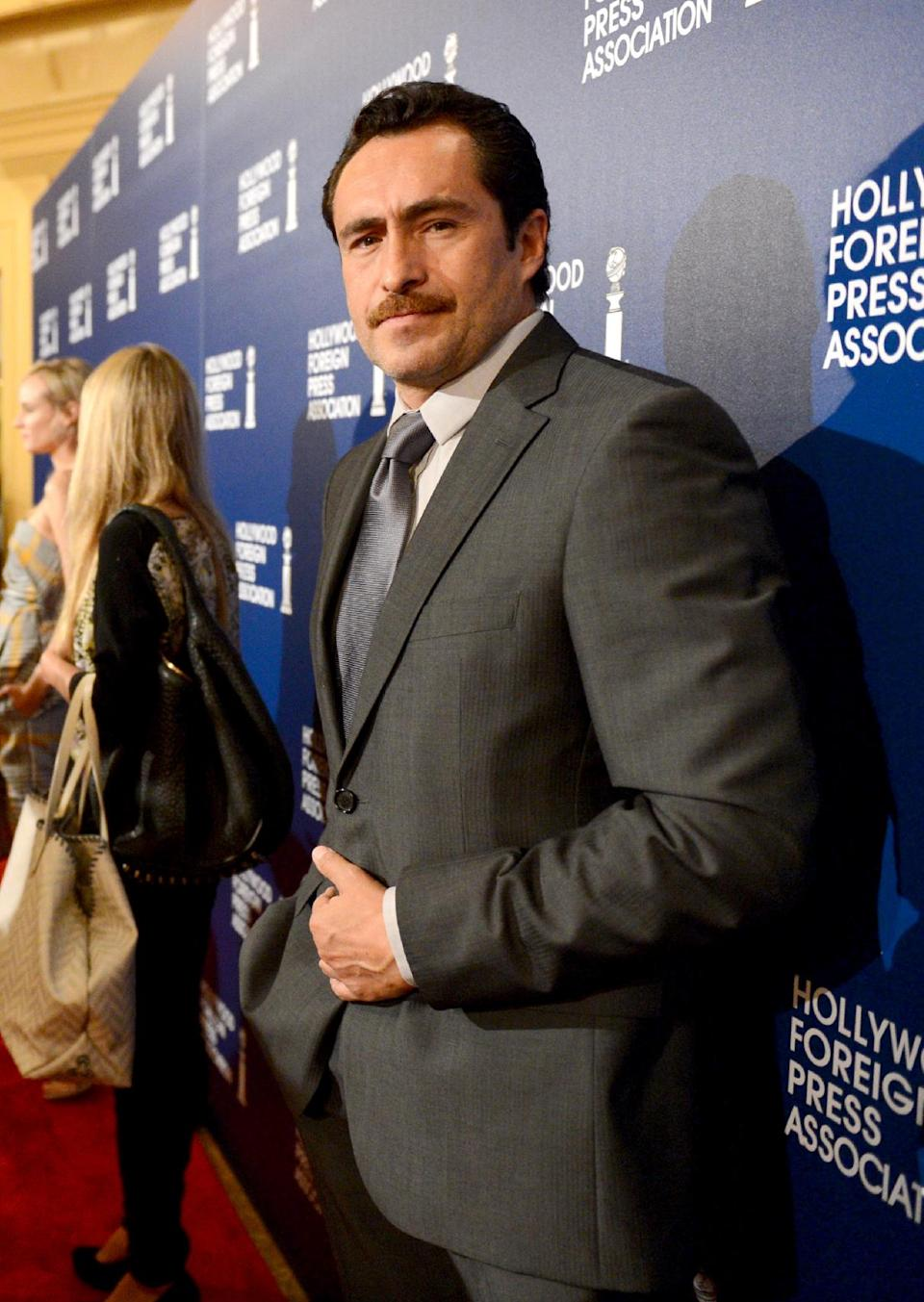 Demian Bichir arrives at the Hollywood Foreign Press Association Luncheon at the Beverly Hilton Hotel on Tuesday, Aug. 13, 2013, in Beverly Hills, Calif. (Photo by Jordan Strauss/Invision/AP)