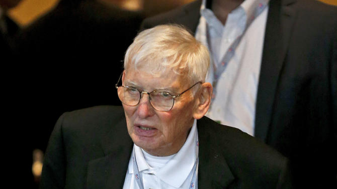 Pittsburgh Steelers chairman Dan Rooney walks out after a morning session at the annual NFL football meetings at the Arizona Biltmore, Tuesday, March 19, 2013, in Phoenix. (AP Photo/Ross D. Franklin)