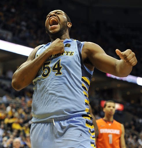 No. 22 Marquette beats No. 12 Syracuse 74-71