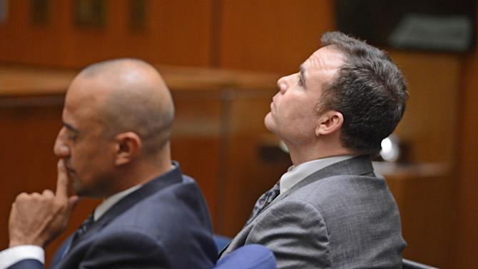 Defendant David Viens, right, listens as a second degree murder verdict was read in Los Angeles Thurwday Sept. 27, 2012.   His attorney Fred McCurry is at left. Viens, a chef, told police he boiled his wife's body for four days to hide evidence of her death.  (AP Photo /Brad Graverson, pool)