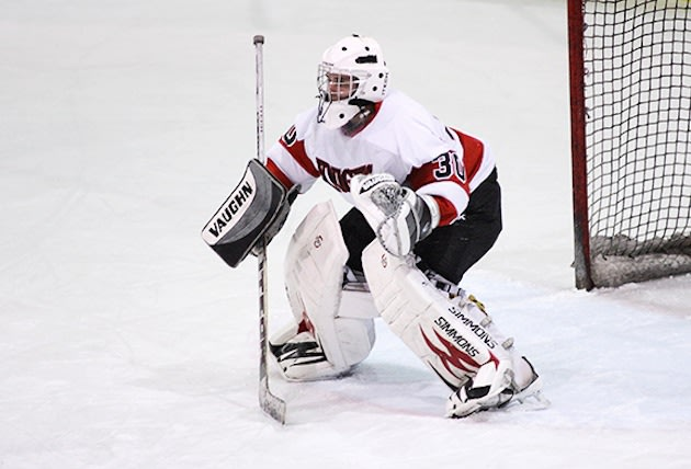 Morris Hills goalie Adam Katz finished with an astounding 74 saves in a loss — Dawn J Benko Photography