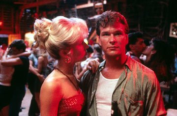 Cynthia Rhodes and Patrick Swayze in Dirty Dancing