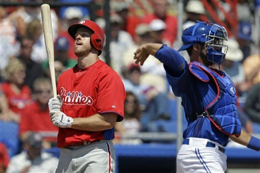 Arencibia homers twice in Jays' win