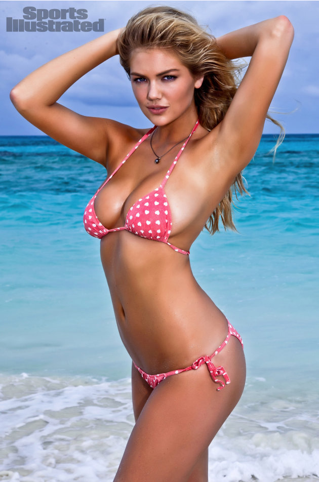 "In this image released by Sports Illustrated on Monday, Feb. 13, 2012, model Kate Upton  is shown in a photo from the ""Sports Illustrated 2012 Swimsuit Issue.""  Upton also graces the cover of the doub"