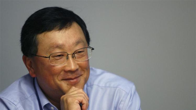 John Chen, Chairman and CEO of Sybase Inc., speaks at the Reuters Global Technology Summit New York in this file photo