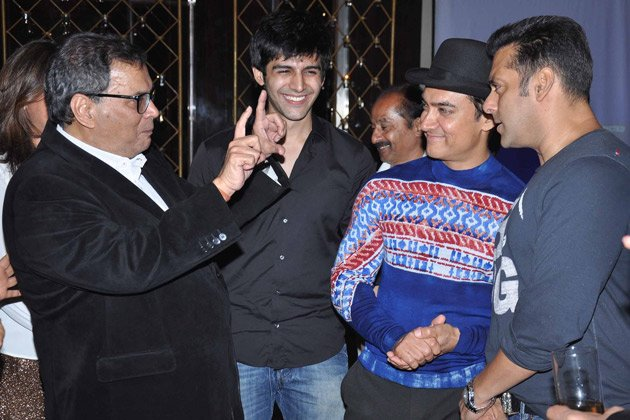 Aamir, Salman at Ghai&amp;#39;s birthday bash