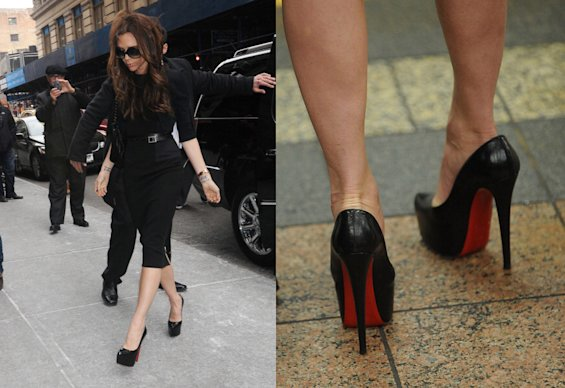 Victoria Beckham es una fan de los zapatos altísimos - Getty Images