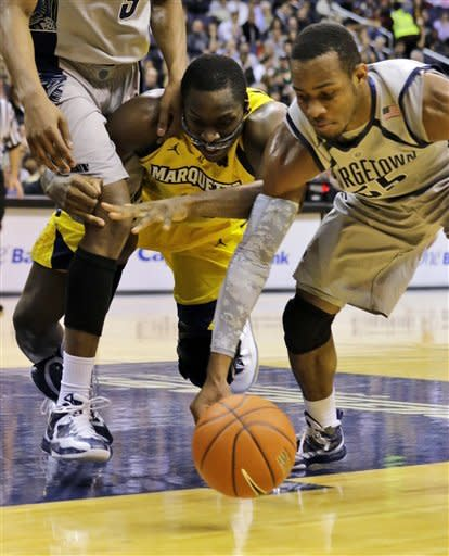 No. 15 Georgetown tops No. 18 Marquette 63-55