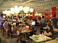 The cafeteria of the Ikea store in Red Hook, Brooklyn, NY.