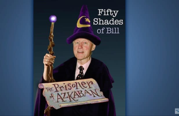 Seth Meyers' Spoofs Anti-Hillary Book: I'm Writing '50 Shades of Bill' (Video)