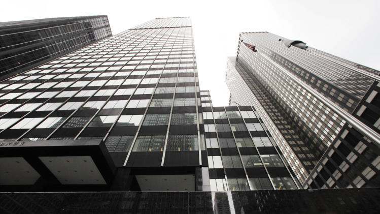 A JPMorgan office building is shown, Monday, May 14, 2012, in New York. JPMorgan Chase, the largest bank in the United States, said Thursday that it lost $2 billion in the past six weeks in a trading portfolio designed to hedge against risks the company takes with its own money. (AP Photo/Mark Lennihan)