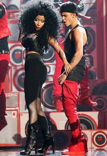 Nicki Minaj and Justin Bieber | Photo Credits: Christopher Polk/Getty Images