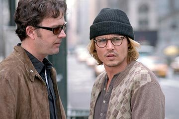 Timothy Hutton and Johnny Depp in Columbia's Secret Window
