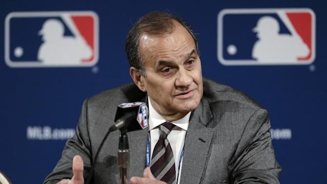 Joe Torre answers questions at the baseball winter meetings on Monday, Dec. 3, 2012, in Nashville, Tenn. Torre will be the manager of the United States team at the World Baseball Classic. (AP Photo/Mark Humphrey)
