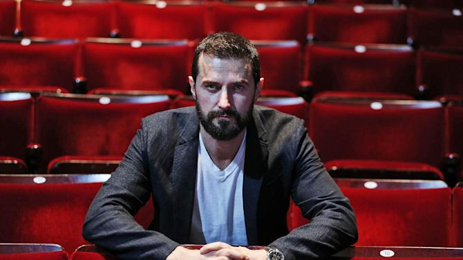 """In this Thursday, June 26, 2013 photo, British actor Richard Armitage poses for the photographer at the Old Vic theatre in London. The British actor, who played dwarf warrior Thorin Oakenshield in Peter Jackson's """"Hobbit"""" trilogy, stars at London's Old Vic Theatre as John Proctor, the decent man in a world gone mad at the center of """"The Crucible,"""" Arthur Miller's modern classic about the Salem witch trials. (AP Photo/Lefteris Pitarakis)"""