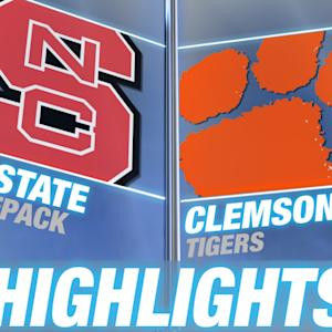 NC State vs Clemson | 2014-15 ACC Men's Basketball Highlights