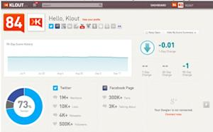 Klout Adds Support for Facebook Pages