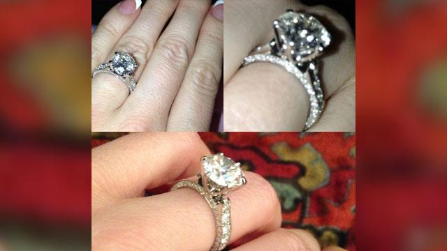 Hugh Hefner's Fiancee Shows Off Engagement Ring