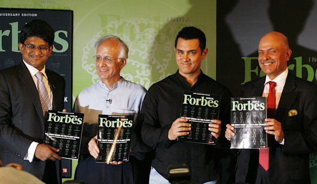 Aamir Khan Launches Forbes (India) 1st Anniversary Issue