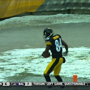 Pittsburgh Steelers wide receiver Antonio Brown 43-yard TD catch and run