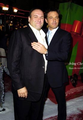 Premiere: James Gandolfini and Ben Affleck at the Hollywood premiere of Dreamworks' Surviving Christmas - 10/14/2004 Photos: Steve Granitz, WireImage.com