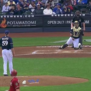 Wagner's first MLB strikeout