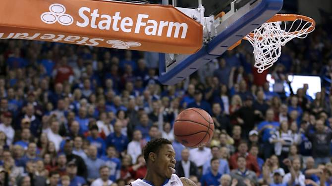 Kansas guard Ben McLemore dunks the ball during the first half of an NCAA college basketball game against Colorado Saturday, Dec. 8, 2012, in Lawrence, Kan. (AP Photo/Charlie Riedel)