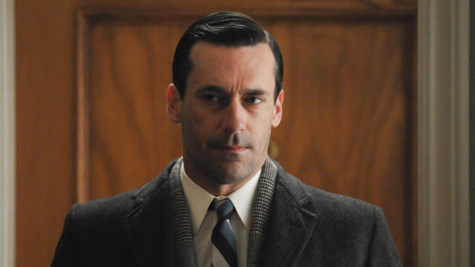"""This publicity image released by AMC shows Jon Hamm as Don Draper in a scene from the finale of """"Mad Men."""" The popular drama ended its fifth season on Sunday, June 10, 2012. (AP Photo/AMC, Michael Yarish)"""