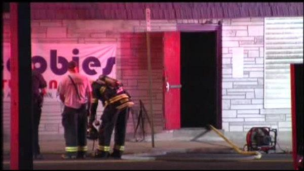Crews battle fire at Allentown strip club