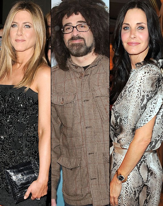 Jennifer Aniston, Adam Duritz, Courteney Cox