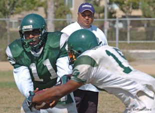 Gardena football coach Ed Lalua