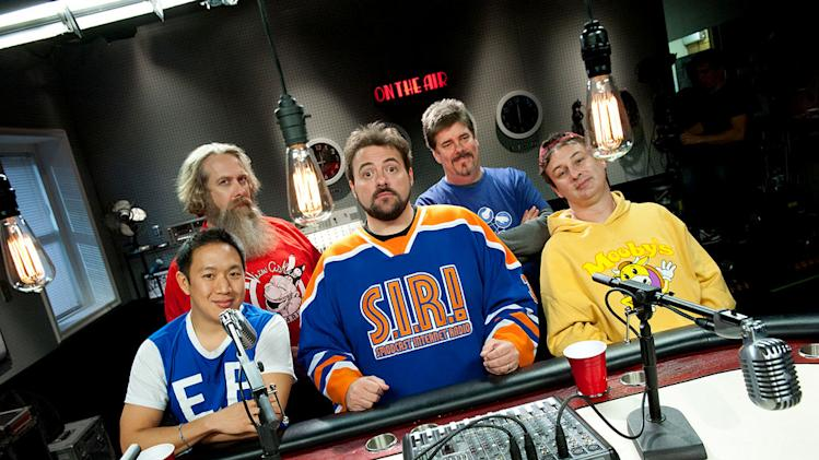 "Ming, Bryan, Kevin, Mike and Walt in ""Comic Book Men."""