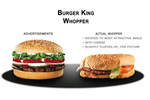 Truth in Advertising and the Double Edged Sword image whopper compare12