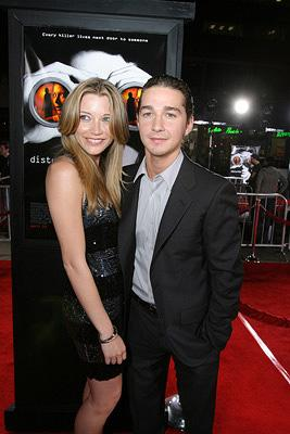 Sarah Roemer and Shia LaBeouf at the Los Angeles premiere of DreamWorks Pictures' Disturbia