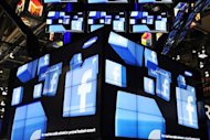 The Facebook logo is seen on a television screen display at the Samsung booth at the 2011 International Consumer Electronics Show in Las Vegas, Nevada. Estonia&#39;s justice ministry has asked parliament to adopt amendments to enable courts to use Facebook and Twitter accounts to contact crime suspects, a ministry spokesman said Monday