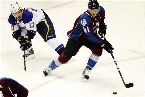McGinn scores twice and Avs beat Blues, 5-3