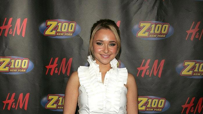 Hayden Panettiere poses in the press room for Z100's Jingle Ball 2007 at Madison Square Garden.