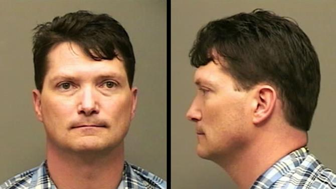 This undated photo provided by the Montgomery County Sheriff Office via The Leaf-Chronicle shows  Lt. Col. Darin Haas. Haas, the manager of the sexual harassment and assault response program at Fort Campbell, Ky., was arrested in a domestic dispute and relieved of his post, authorities said Thursday. (AP Photo Montgomery County Sheriff Office via The Leaf-Chronicle)