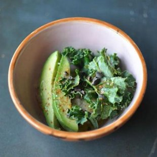 Avocado and kale oatmeal