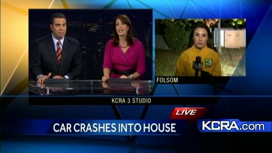 Car crashes into Folsom home