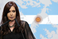 BUENOS AIRES, ARGENTINA - FEBRUARY 07: The president of Argentina, Cristina Fernandez de Kirchner submitted a formal complaint to the ONU for the &quo...
