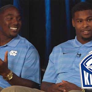 UNC's Marquise Williams & Norkeithus Otis Impersonate Larry Fedora | #ACCkickoff