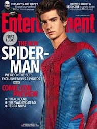 Andrew Garfield as Spiderman on the cover of