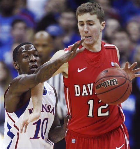 Davidson shocks No. 12 Kansas in 80-74 victory